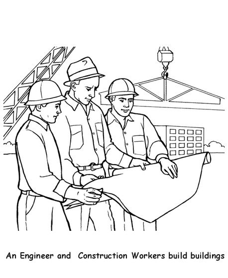 Construction Worker Coloring Page Coloring Pages For Kids Flag Coloring Pages Disney Coloring Pages