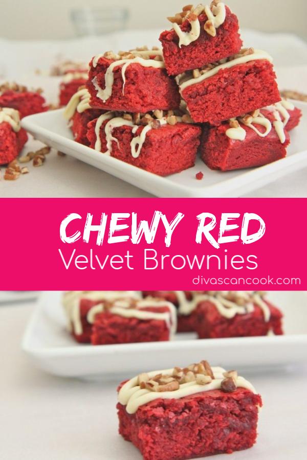 Chewy Red Velvet Brownies Recipe Recipe Brownies Recipe Homemade Brownie Recipes Red Velvet Brownies Recipe