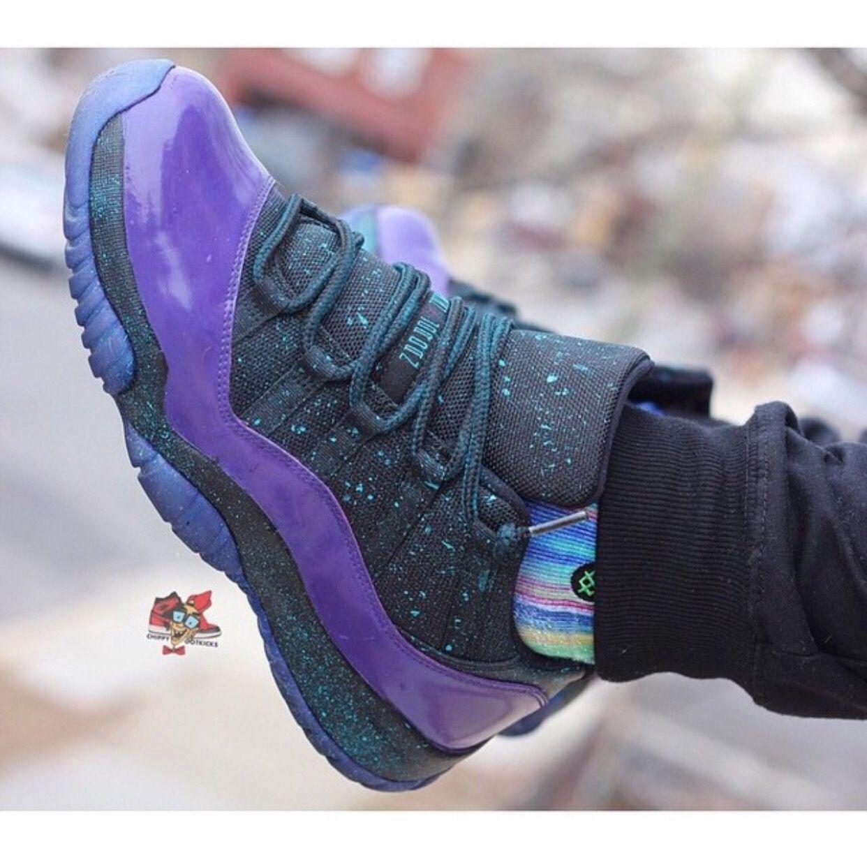 Cheap Nike Air Jordan 11 Low Hologram Custom