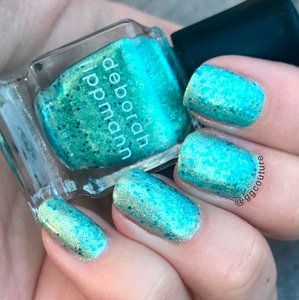 Image result for gel polish teal | Holiday nails glitter