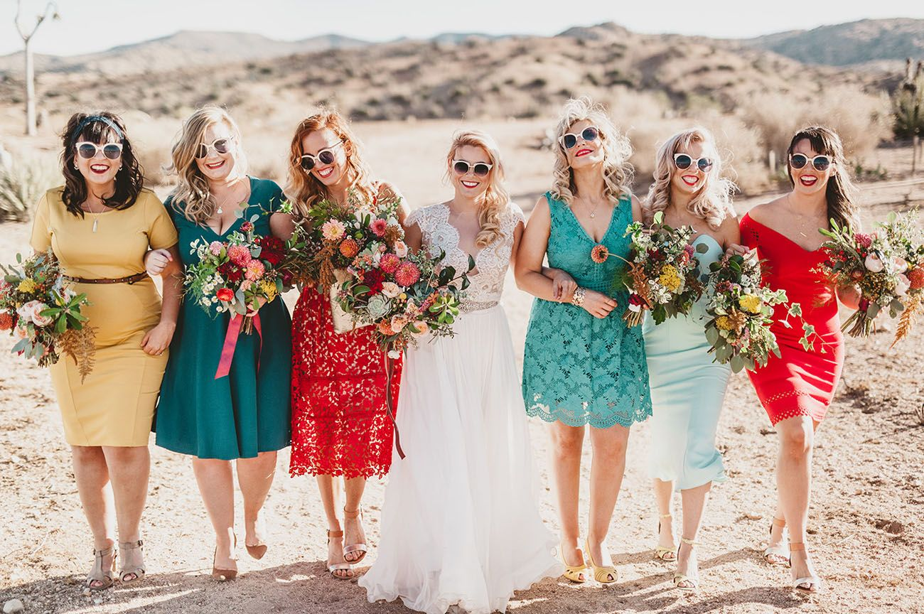 Magical Desert Wedding With Pops Of Color Personality Part 1