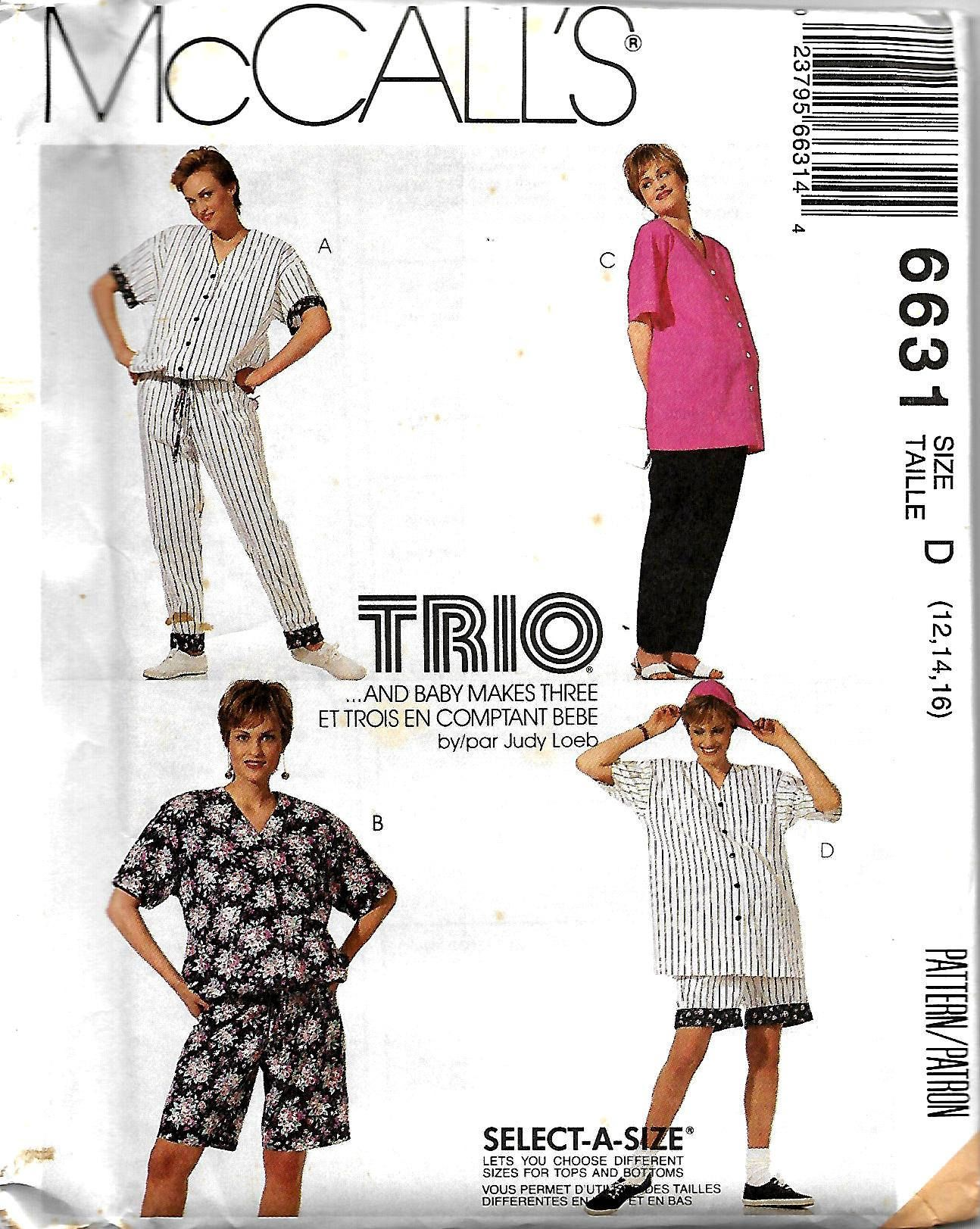 McCall\'s 6631 Trio Maternity Sewing Pattern, Baseball Jumpsuit ...