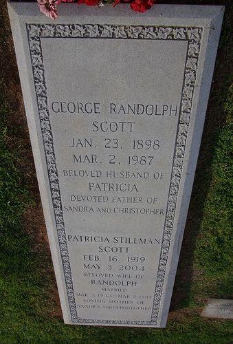 Randolph Scott Grave Marker