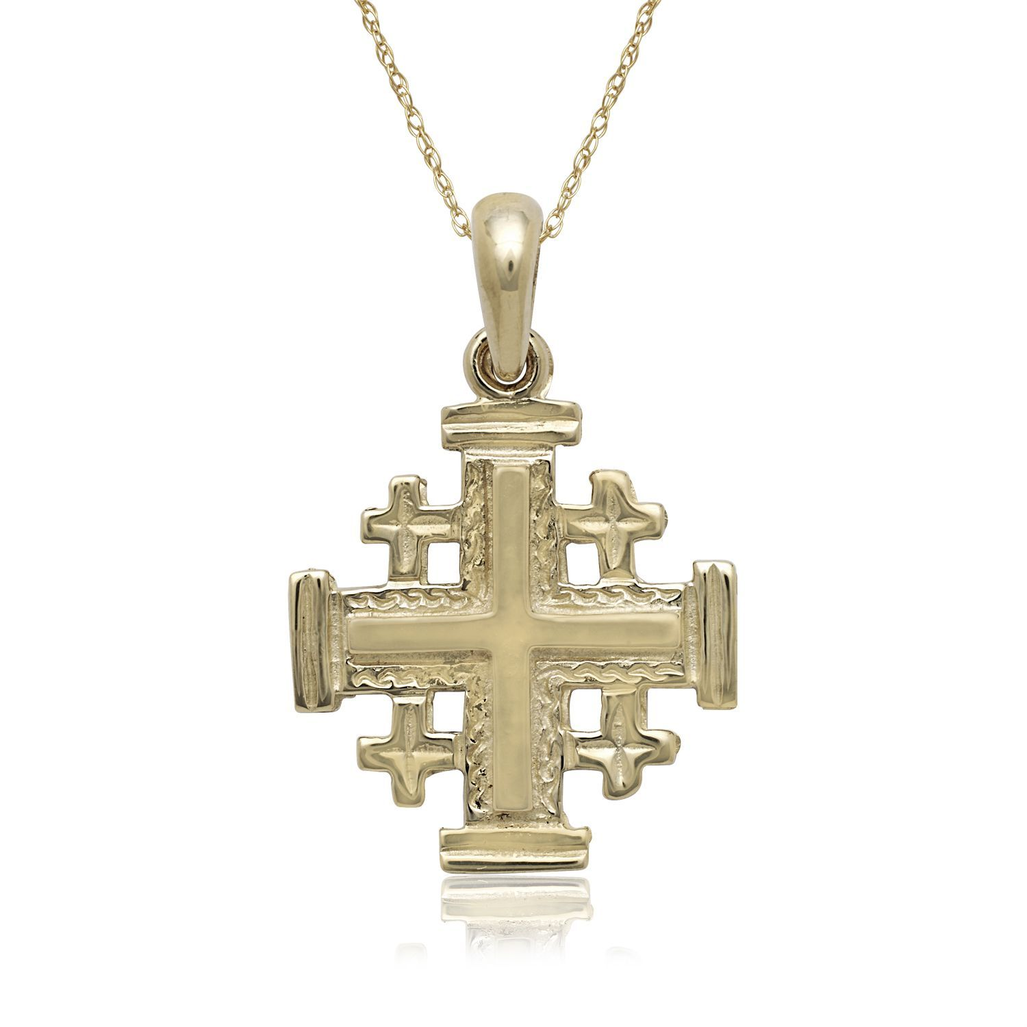 jerusalem product dominique s cross jewelry of gold pendant
