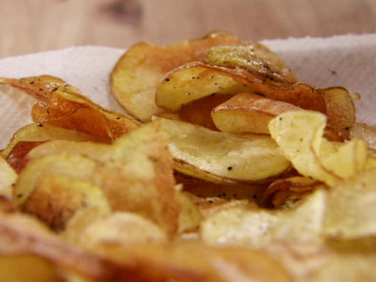 Homemade Black Pepper Potato Chips recipe from Ree Drummond via Food Network