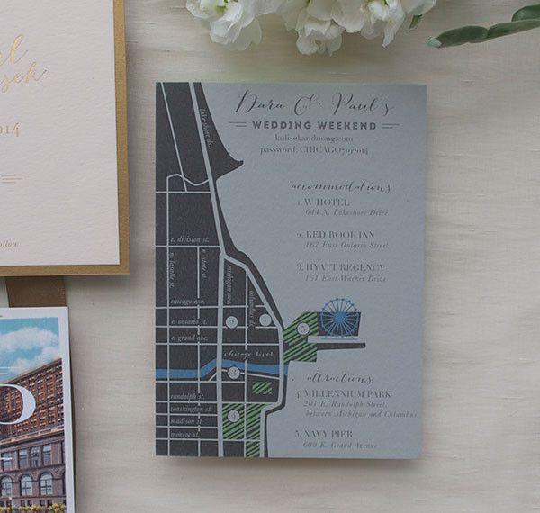 dara pauls chicago wedding invitation suite - Wedding Invitations Chicago