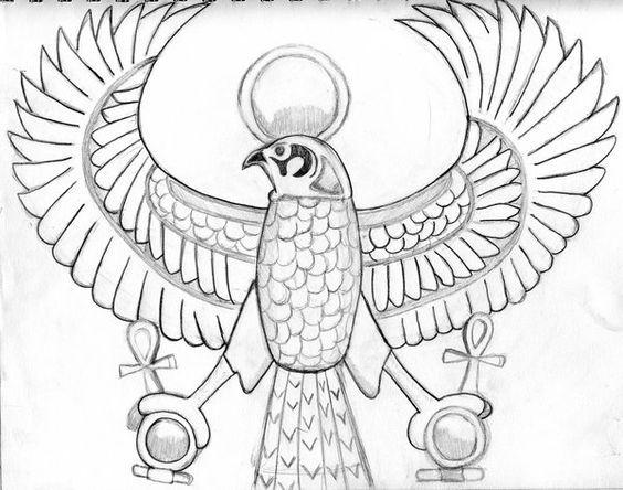 Horus Falcon Tattoo Designs