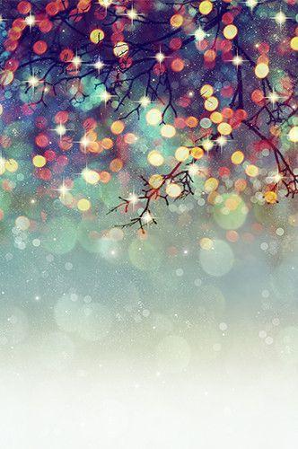 6774 Mistletoe Bokeh Printed Backdrop Fond Ecran Photographie Noel