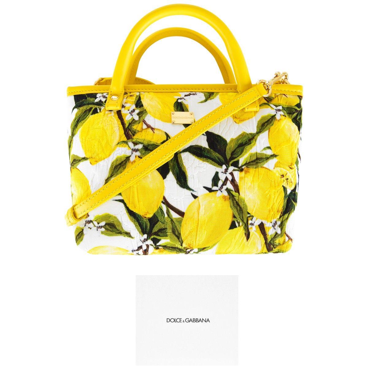c729a87e17 Dolce   Gabbana Girls Lemon Print Small Tote Bag