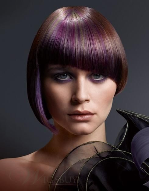 Mushroom Hair Bob Hairstyle Mixed Color Wig Sweet Wigs Pinterest