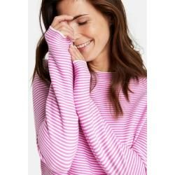 Photo of Gerry Weber Fein geringelter Pullover Lila/Pink/Ecru/Weiss Ringel Damen Gerry Weber