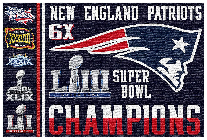 Fanaticfan4life New England Patriots Super Bowl Flag Super Bowl 53 Pats Nation 3x5 Flag Banner New England Patriots Super Bowl Patriots