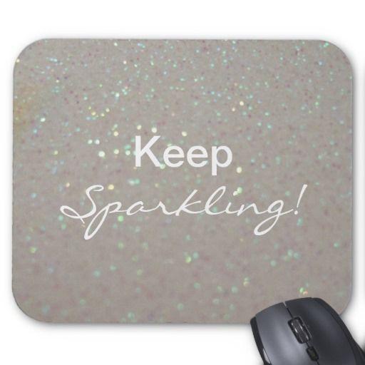 Faux cream Sparkles  - Keep Sparkling Mouse Pad