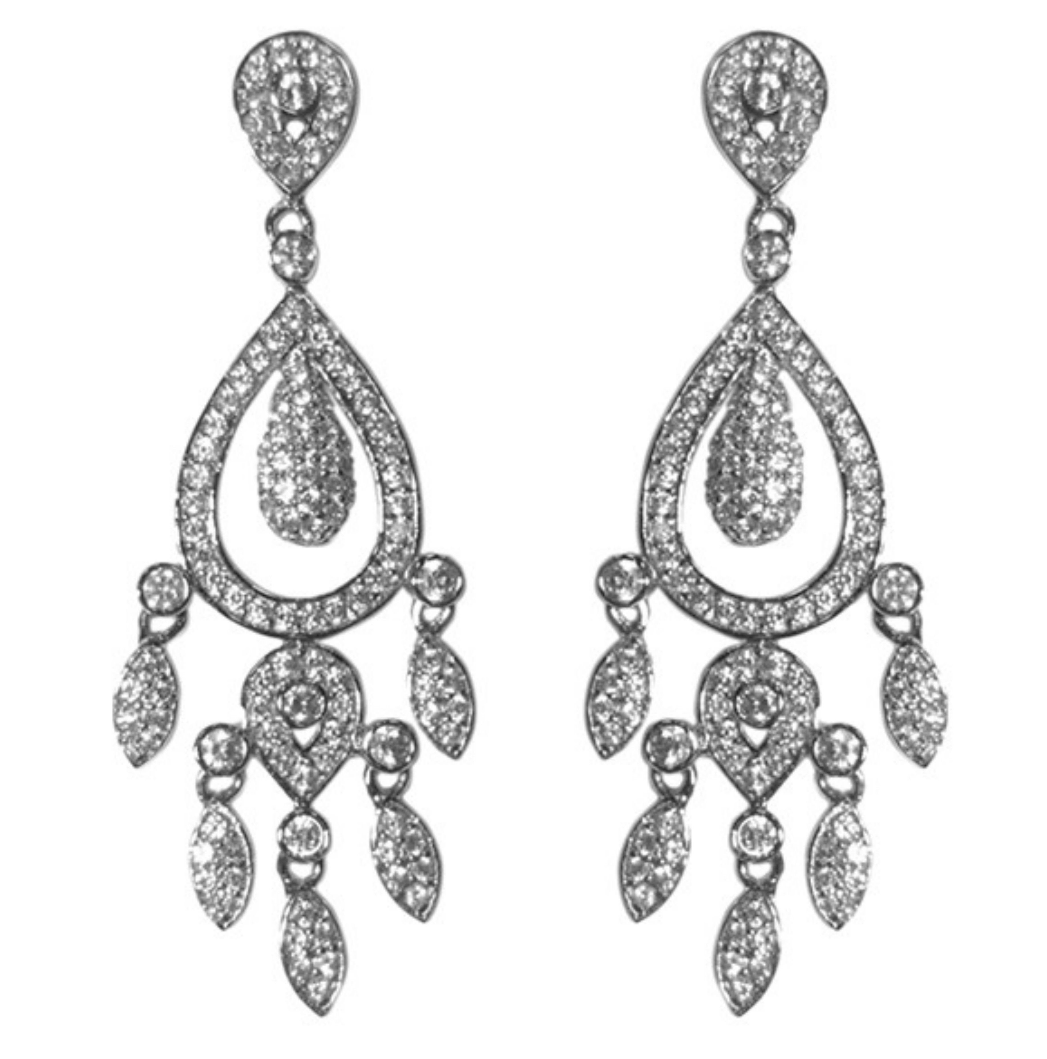 Jolanta cz dangle chandelier earrings cubic zirconia chandelier jolanta cz dangle chandelier earrings cubic zirconia arubaitofo Choice Image