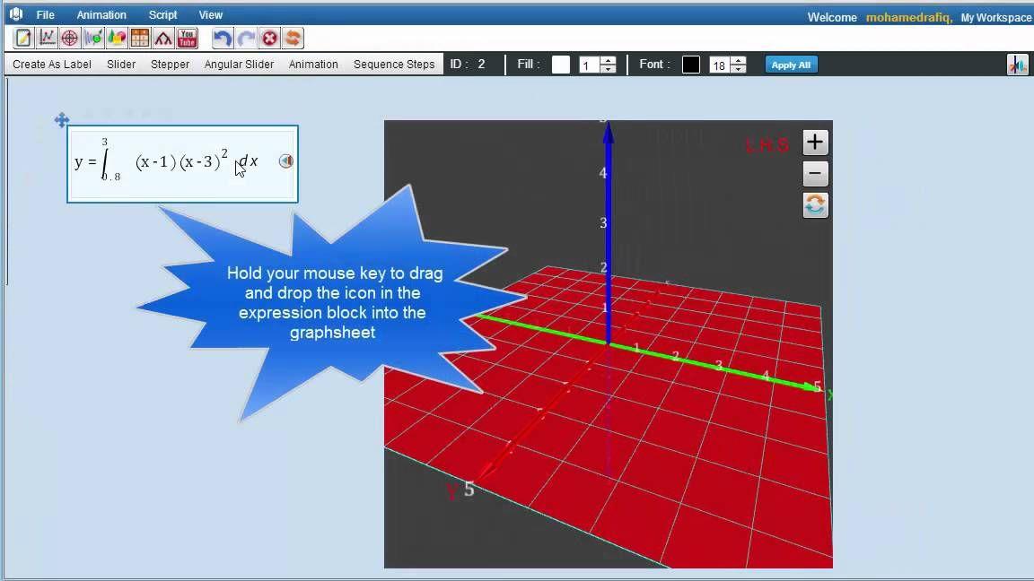 Part 3- Solid of Revolution in 3D graph sheet #edtech #math