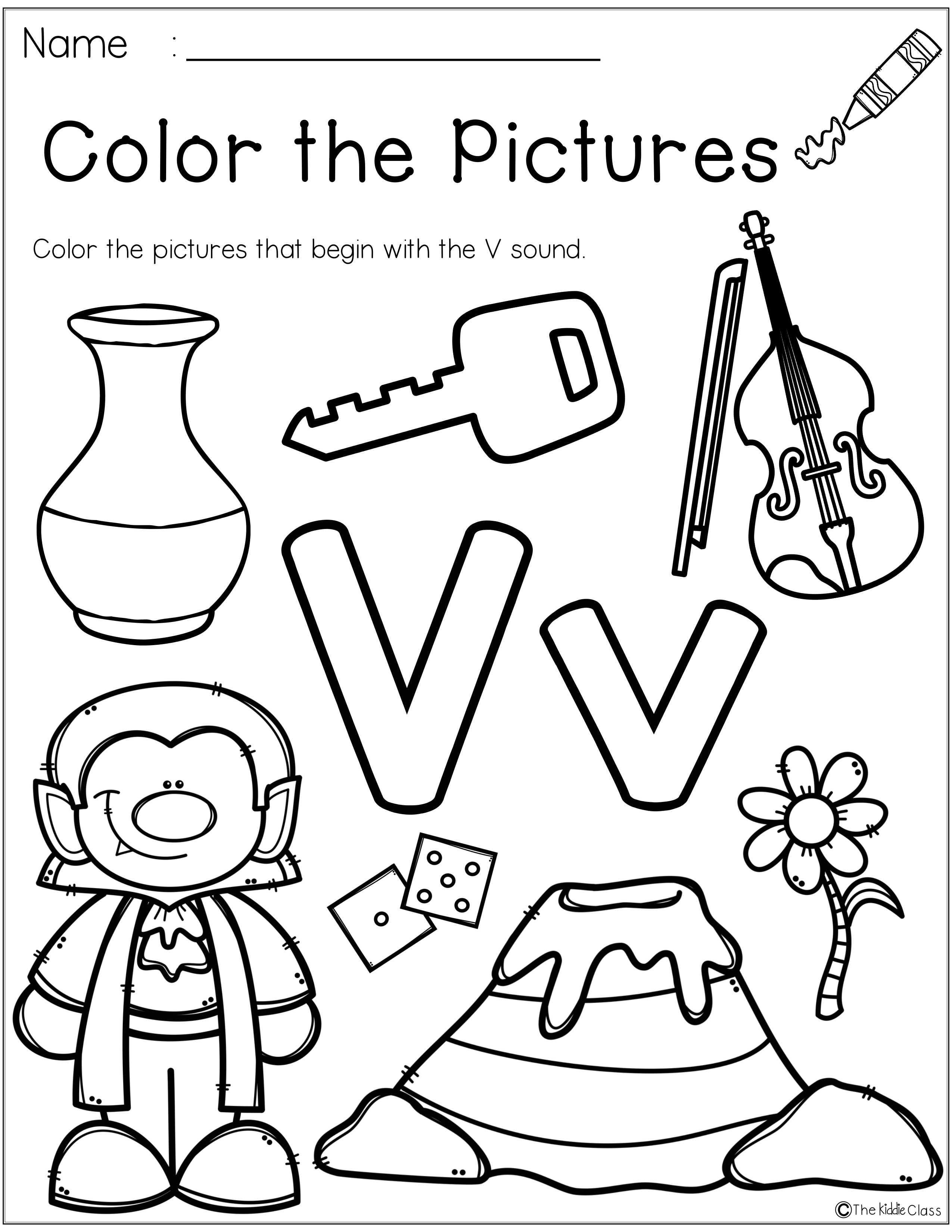 Letter Of The Week V Is Perfect For The Beginning Of The Year In Preschool Or Kinderga Kindergarten Phonics Worksheets Phonics Kindergarten Letter V Worksheets