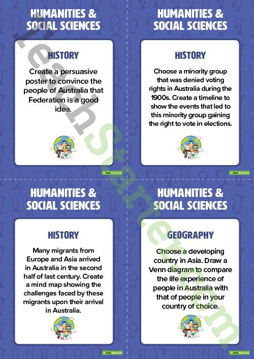 Fast Finisher Humanities And Social Sciences Task Cards Year 6 Teaching Resource Science Task Cards Social Science History Teaching Resources