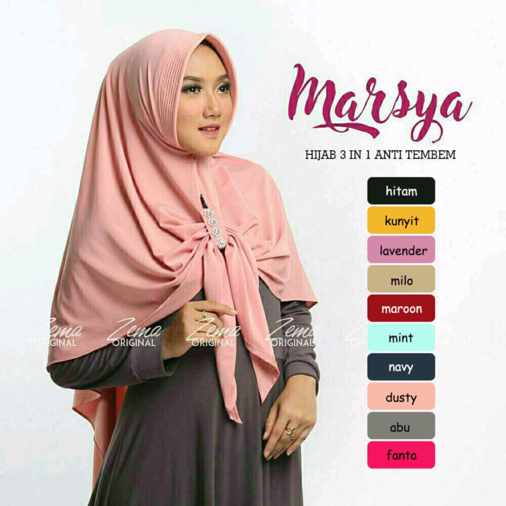 Jilbab Hijab Bergo Kerudung Instan Marsya Hijab 3 In 1 Mempunyai Keterangan Produk Bahan Crepe Diamond Dan Bubble Pop A Cara Hijab Hijab Muslim Fashion Outfits