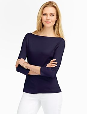 Talbots - Luxe Boatneck Tee | Tees and Knits | Misses