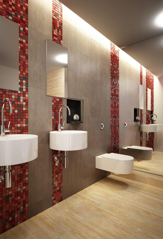 Bati orient pr sente ici une salle d 39 eau avec les murs en - Mosaique adhesive pour salle de bain ...