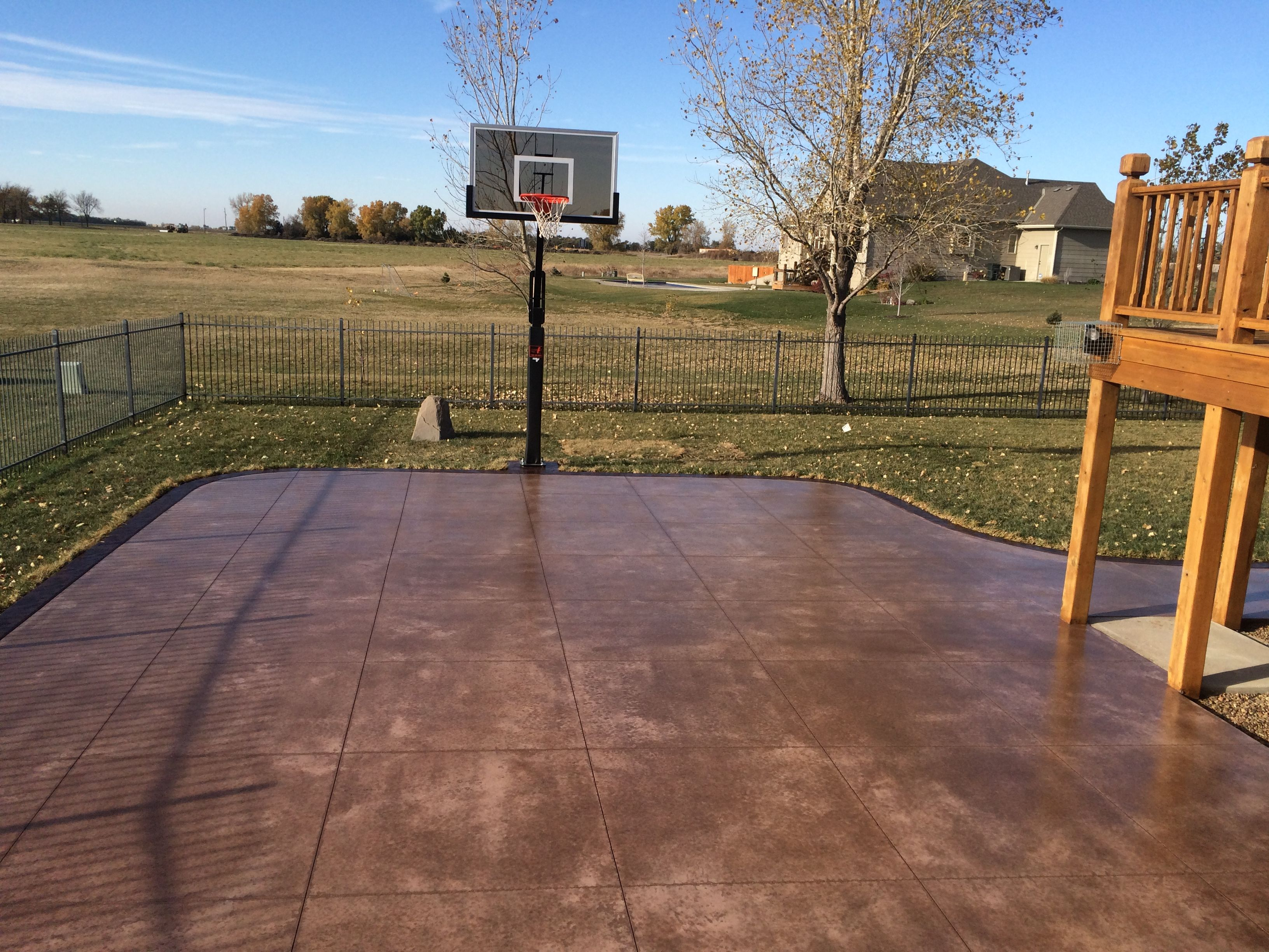 Backyard Patio · Our Concrete Basketball Courts ...