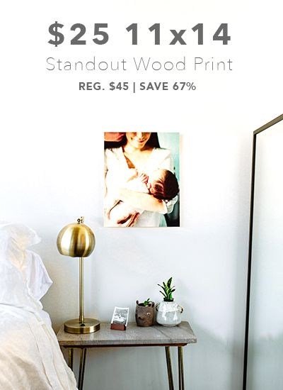 $25 11×14 Standout Wood Print