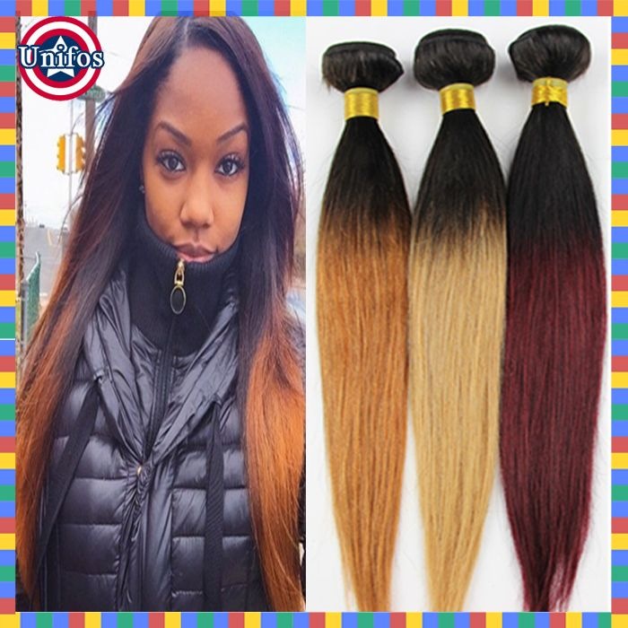 Burgundy Ombre Hair Weave Human Hair Ombre Weave Hair Goalstips