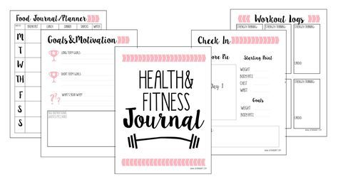 free fitness journal planner printable gift fit not fat