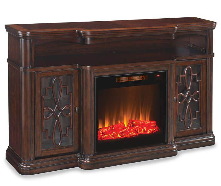 60 Walnut Finish Electric Fireplace At Big Lots Fireplace Tv