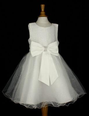 2932919eac9 Robe de cérémonie fille et bébé KATIA - Ivoire - Ecru