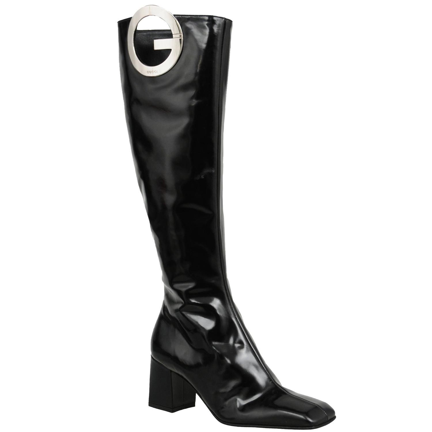 Tom Ford for Gucci Patent 'G' Boots