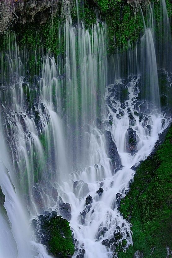 Amazing Photos of Waterfalls... This one is McArthur-Burney Falls Memorial-State Park, California