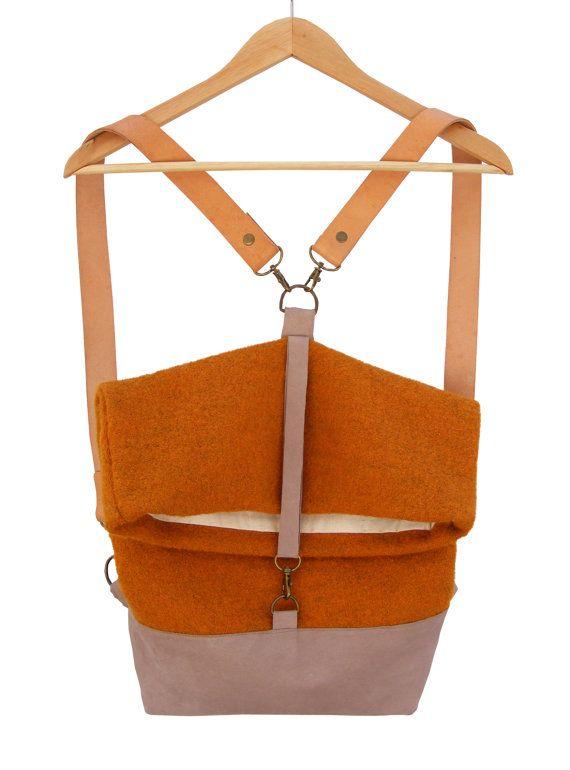 Narancssárga   Szürke   Táska   Hátizsák   hátizsák   utazótáska   Bőr    Gyapjú   Kézi 46a4c08099