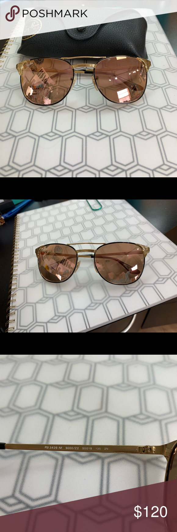 Ray Ban RB3429 M Sonnenbrille in Gold Second Hand