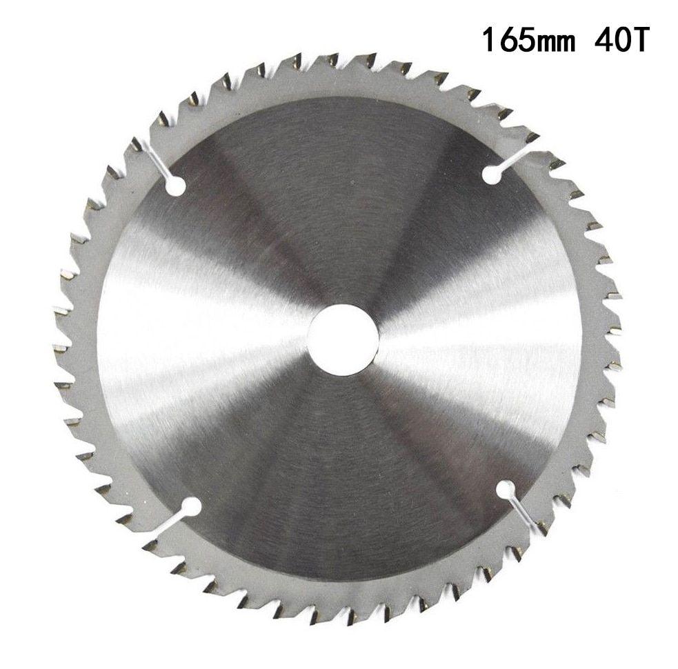 165mm 40t 20mm Bore Tct Circular Saw Blade Disc For Dewalt Makita Ryobi Bosch 165mm 20mm Bore Circular Blade Saw Blade Circular Saw Circular Saw Blades