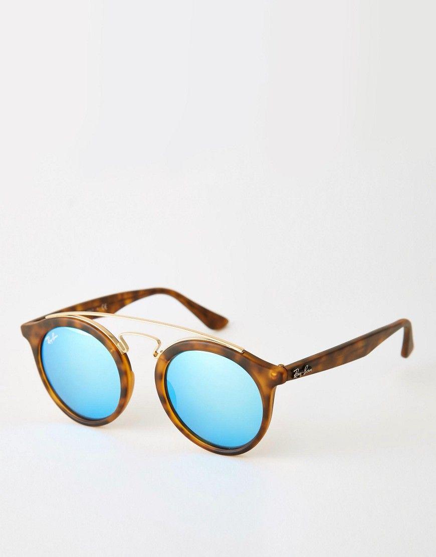 lunette ray ban ronde miroir