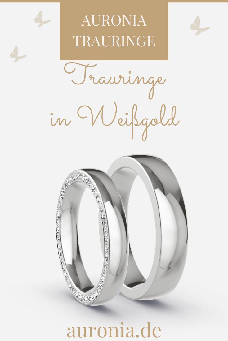 trauringe weissgold 333 - 0.265 ct. diamanten - modell