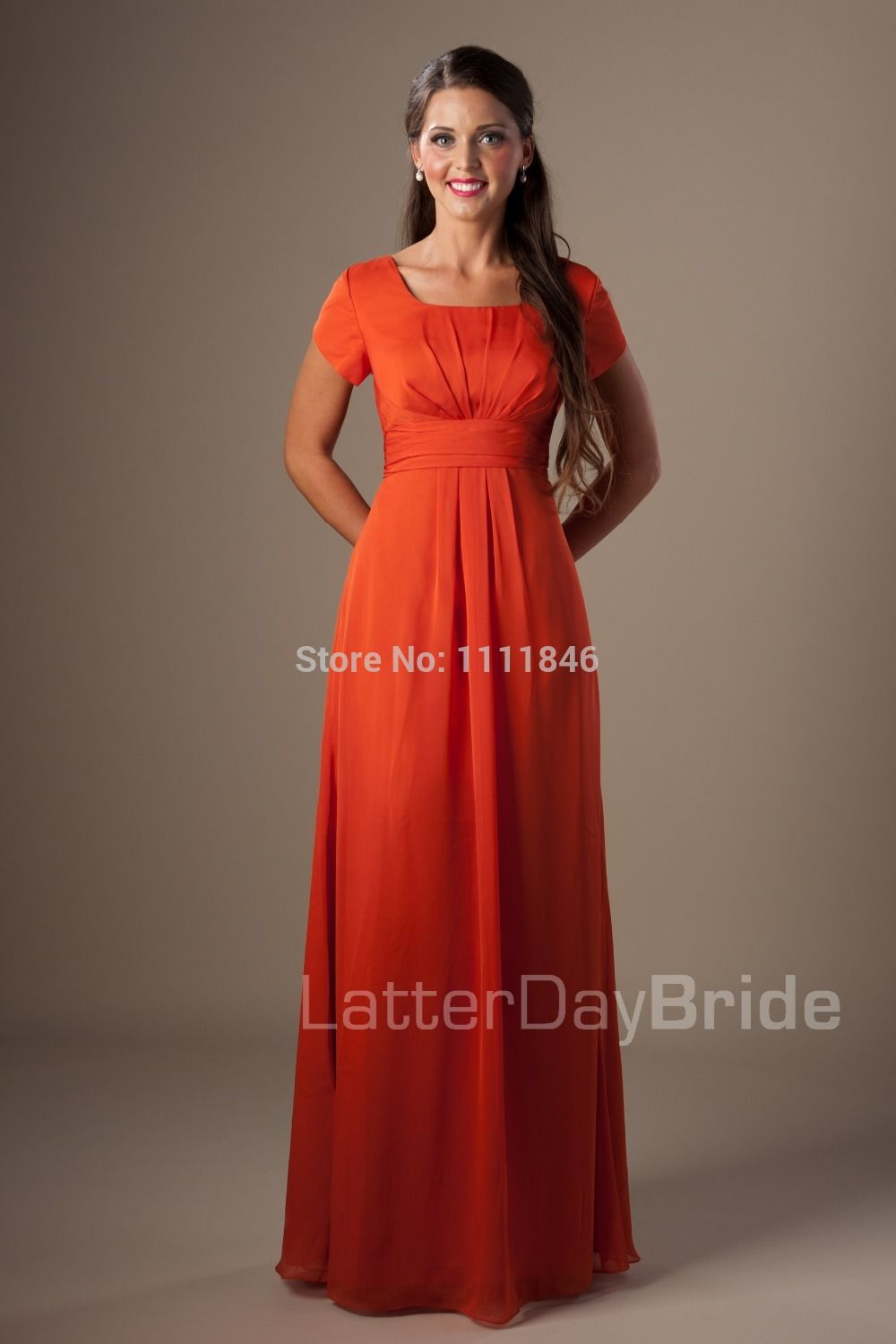 df8a8f646d76 ... length burnt orange bridesmaid dresses short sleeves chiffon modest  bridesmaid dress for women formal gowns,High Quality dresses dress up,China  dresses ...