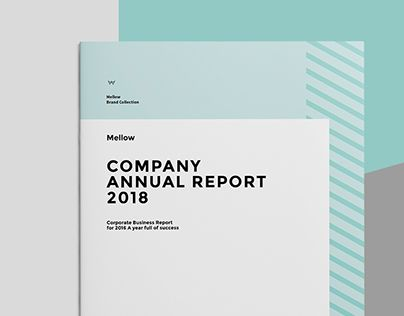 Mellow Annual Report Disign Pinterest Brand manual, Adobe - annual report templates free download