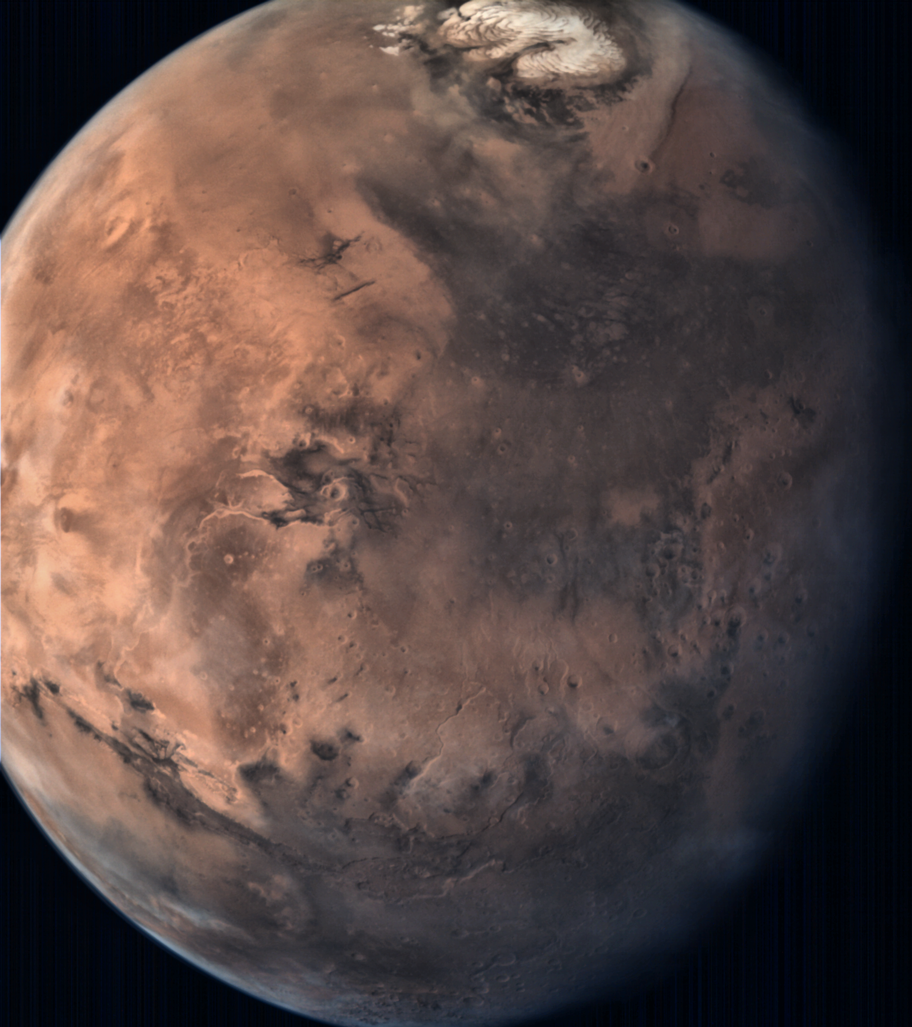 Mars Full Disc View From Mom Mangalyaan Taken By The Mars Colour Camera Aboard Credit Isro Universe Galaxy Planets Universe Today Mars Orbiter Mission
