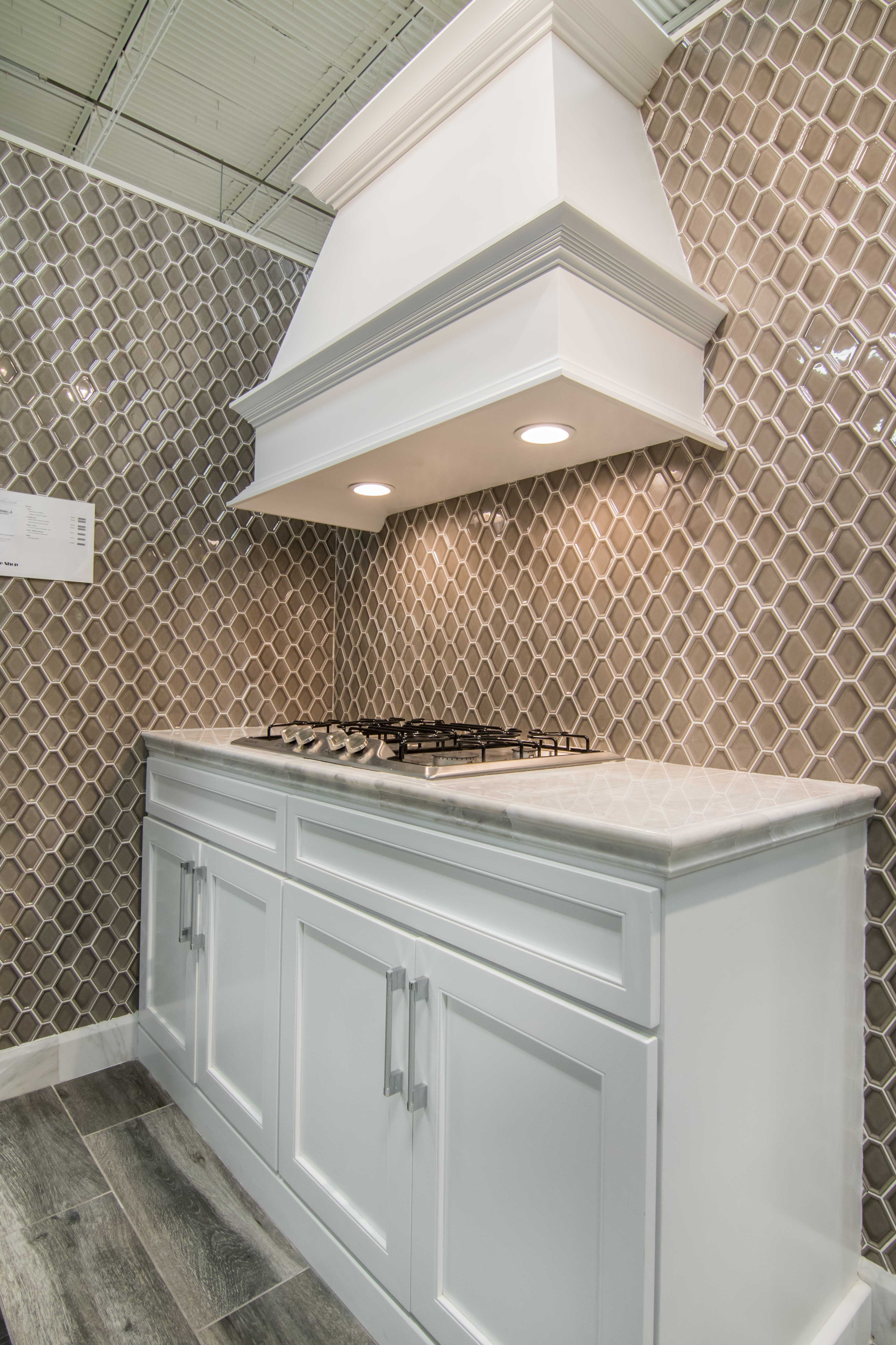 kitchen backsplash wall tile nova hex smoke ceramic mosaic tile httpswww