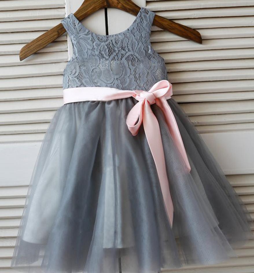 Flower Girl Dresses Grey Flower Girl Dress With Petticoat Dresses