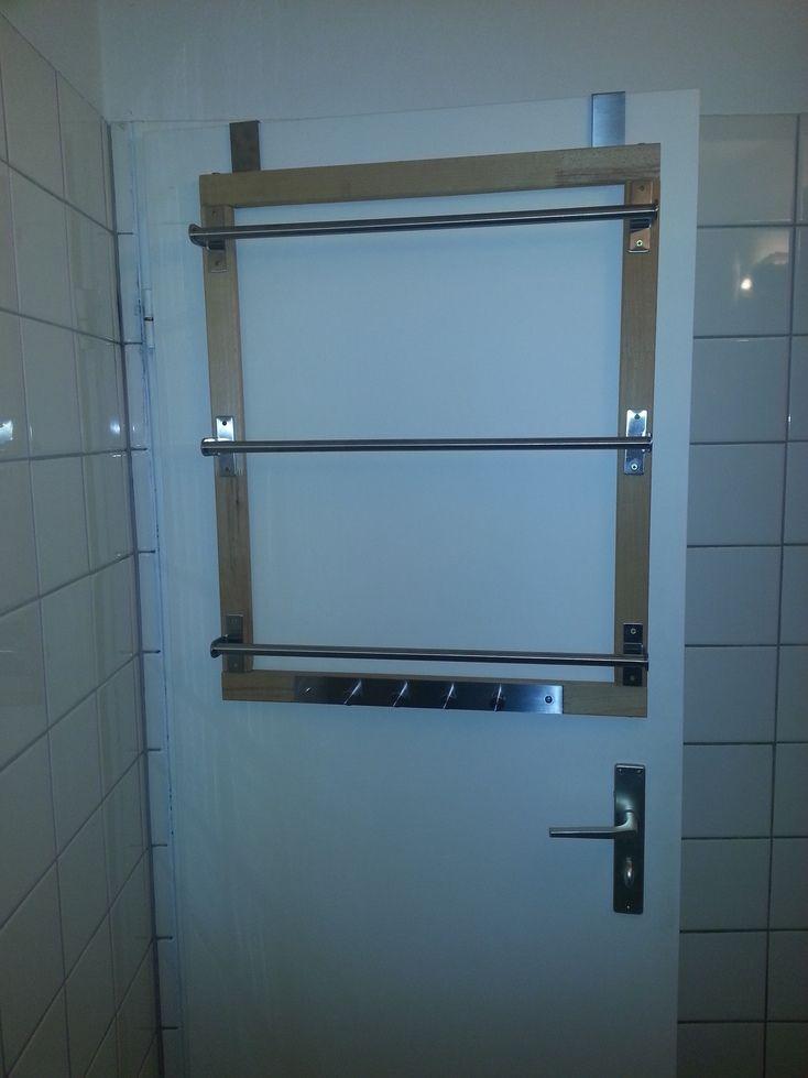 Grundtal Over The Door Towelrack Ikea Hackers Bathroom Towel Bar Towel Rack Diy Towel Rack