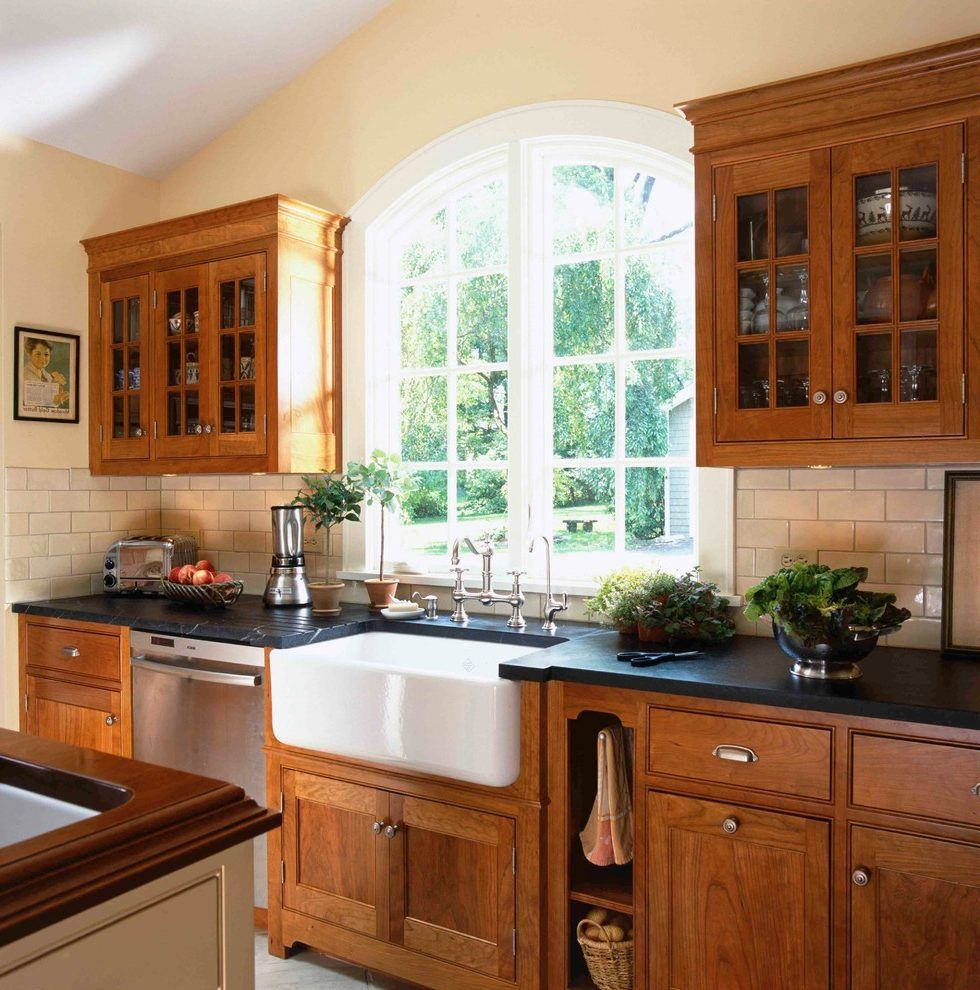 Image result for wood sink with a farm sink