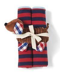 Blanket & Puppy Rattle Set