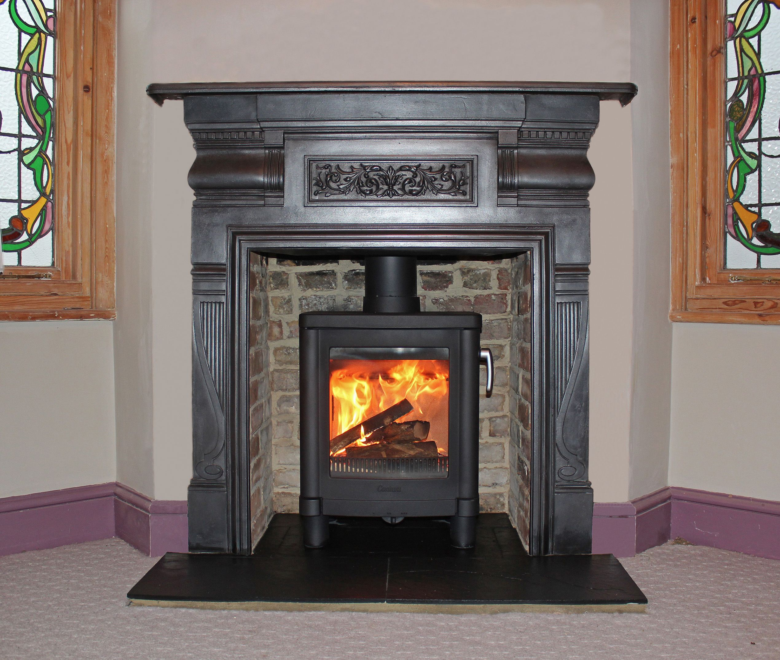 grate glasgow fireplace by victorian the rusty combination fireplaces