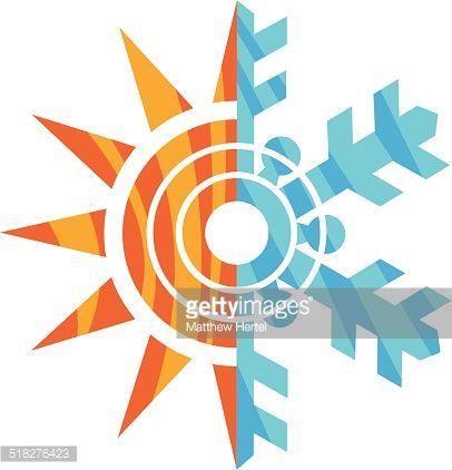 Illustration Of Snowflake And Sun Sun Illustration Snow Flake