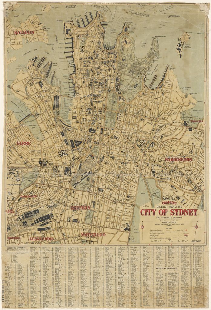 Map Of The City Of Sydney C 1927 Sydney Map Map Ancient Maps