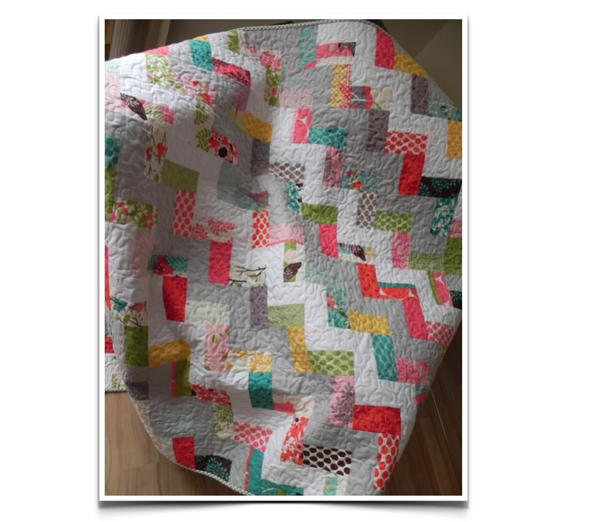This quilt is simple to make and perfect for a beginner or someone with more advanced skills, looking to make a quilt in a weekend.