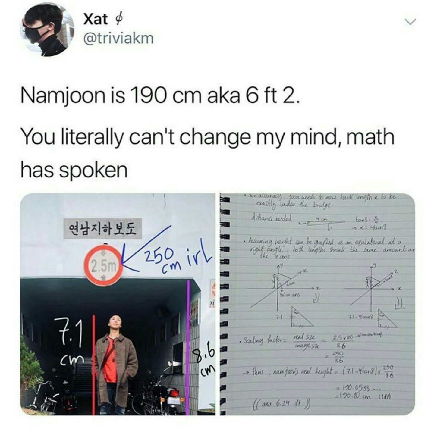 I M Dead This Army Literally Did The Math I Mean Either Way I M Fine With Joons Height Bts Theory Bts Funny Bts Memes